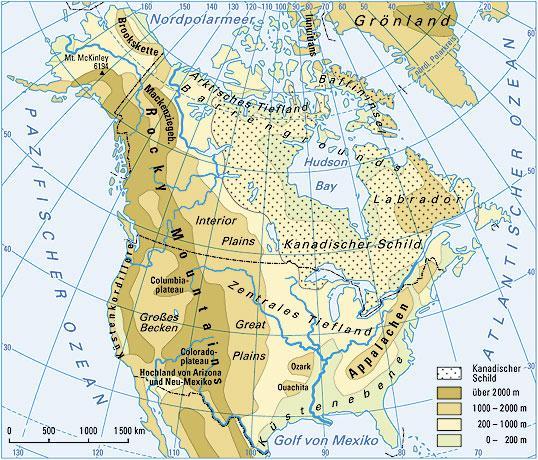 Karte Nordamerikas.Ernst Klett Verlag Terrasse Schulbücher Lehrmaterialien Und