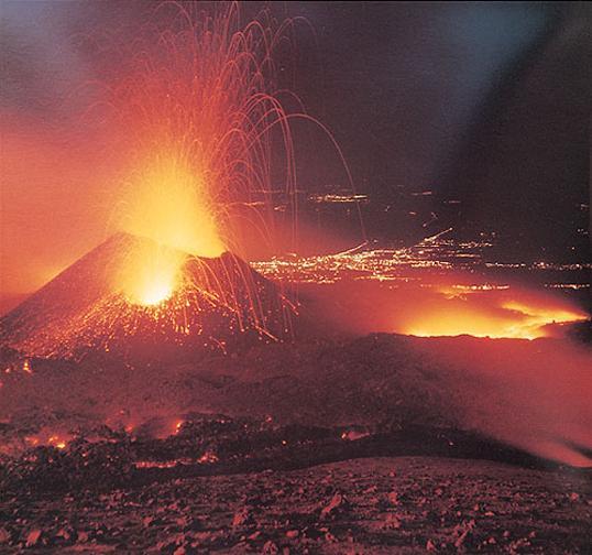 Letzter Vulkanausbruch